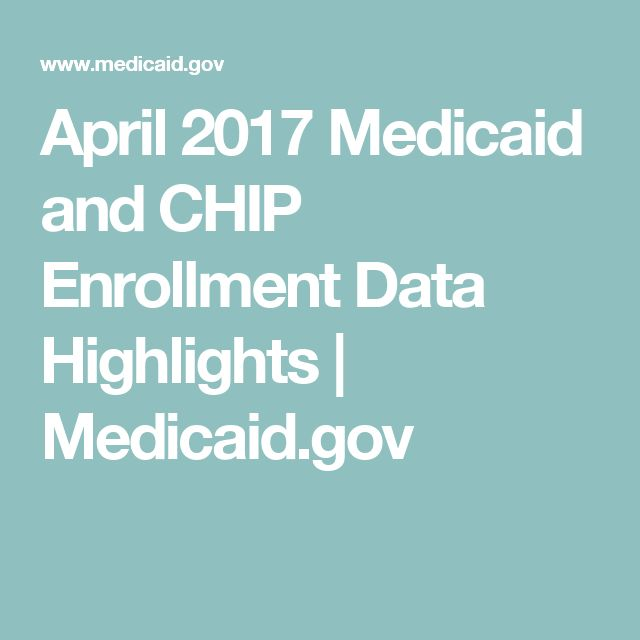April 2017 Medicaid and CHIP Enrollment Data Highlights | Medicaid.gov