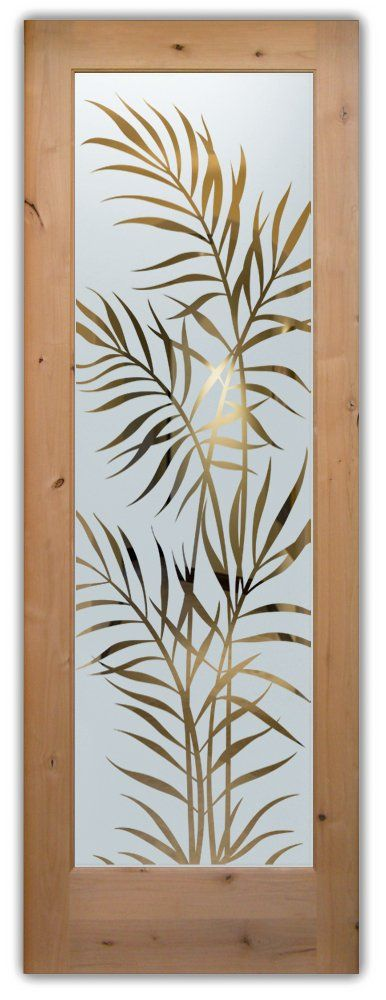 interior glass door sandblasted glass leaves outdoors tropical design sans soucie ferns