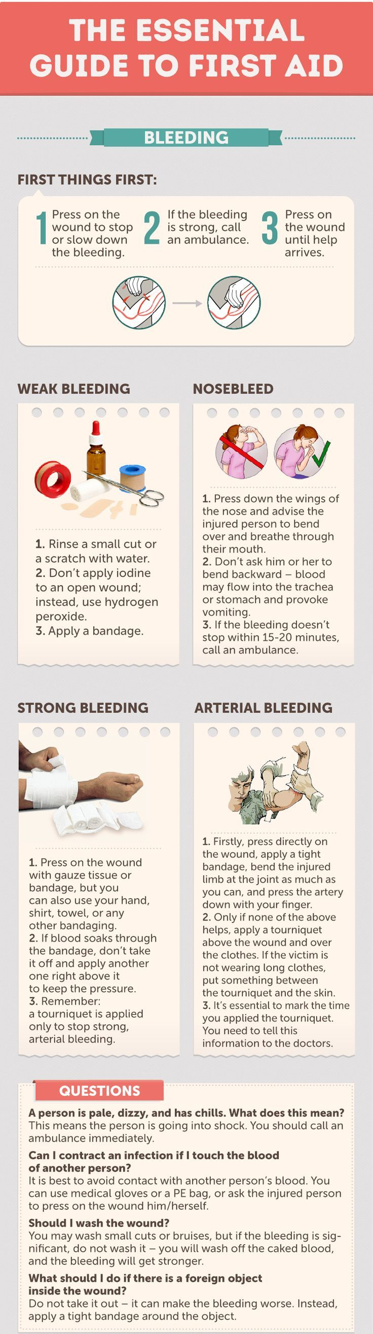 First Aid Basics for Bleeding - 43 Usefull Hiking Tips and Tricks