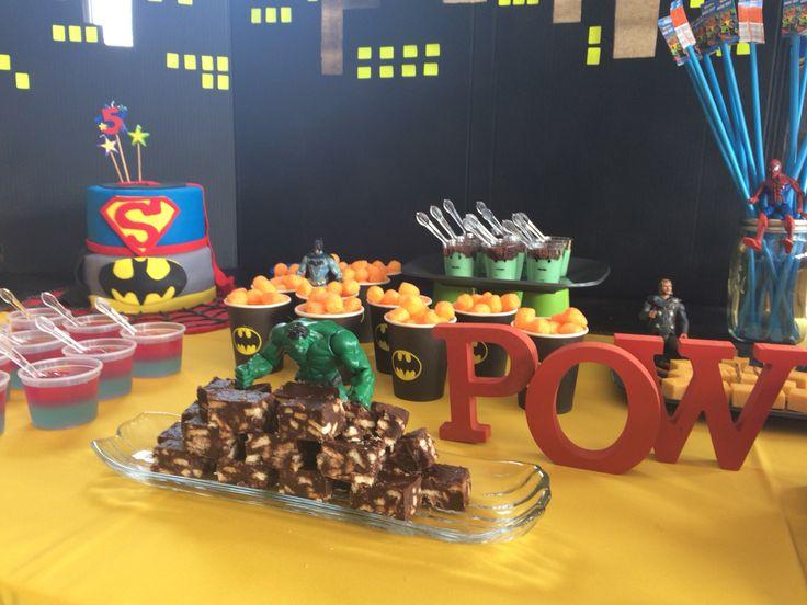 Superhero eats
