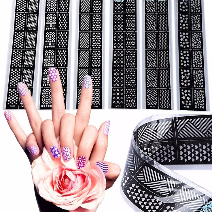 83 best stencil nailart images on pinterest decal decals and diy 6pcslot diy nail art hollow stamping template stencil stickers guides design nail vinyls tips decal manicure solutioingenieria Images
