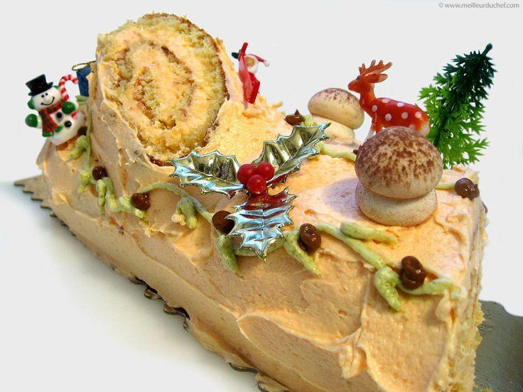 Bûche de Noël au Grand-Marnier - La recette avec photos - MeilleurduChef.com
