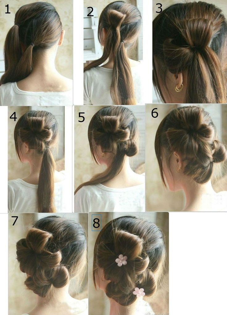 tying hair styles flower tie updo homecoming best hairstyles step by step 6726