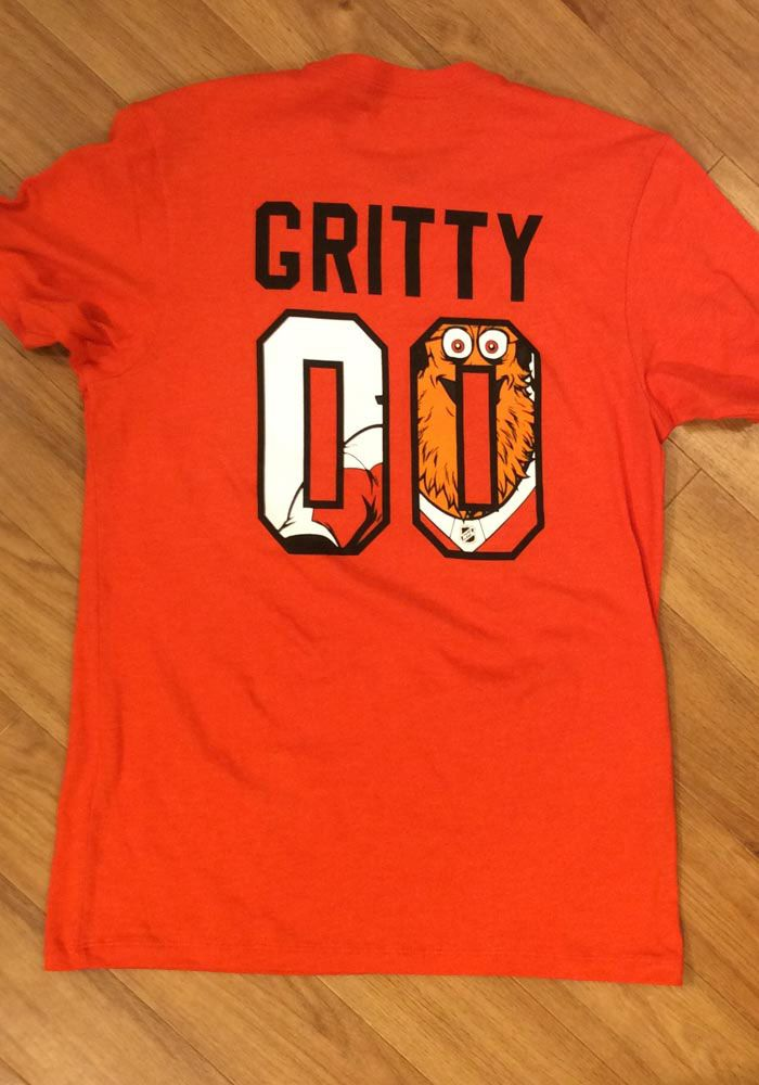 e2f8b772d '47 Philadelphia Flyers Orange Gritty MVP Short Sleeve T Shirt, Orange,  100% COTTON, Size 2XL. '