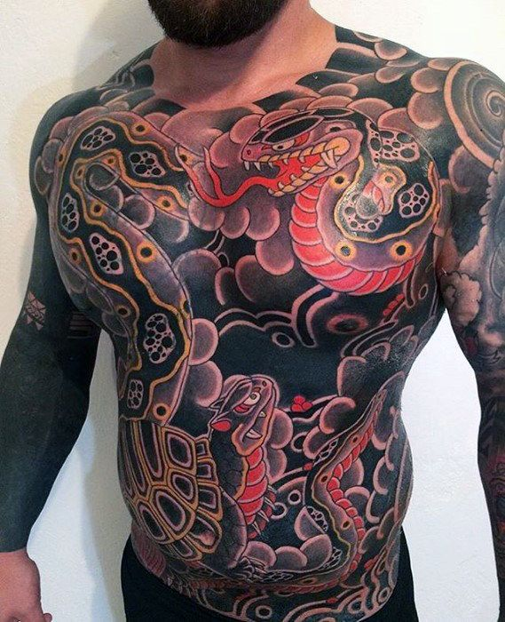 30 Best Japanese Chest Tattoos For Men Images On Pinterest