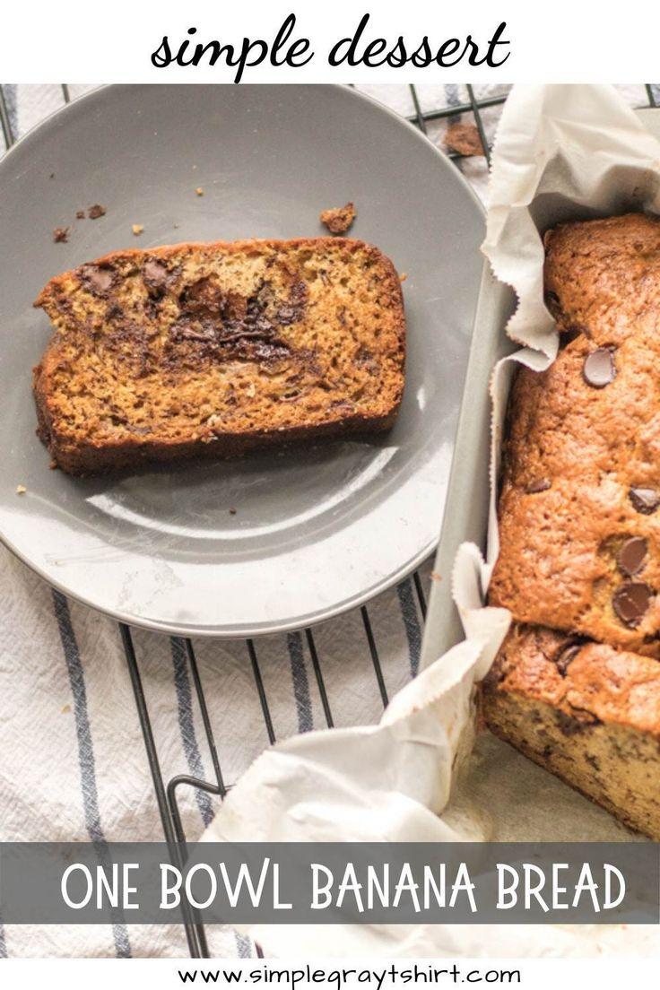 Jun 27, 2020 – Banana bread is the ultimate in comfort food and this one bowl recipe is just the answer. Combine all pan…