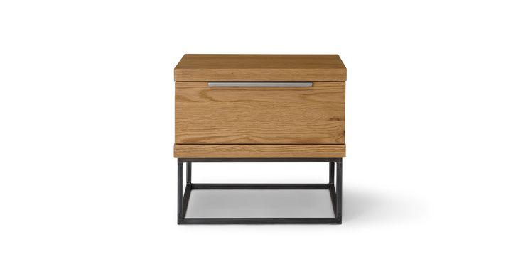 Taiga Oak 1 Drawer Nightstand - Nightstands - Article | Modern, Mid-Century and Scandinavian Furniture