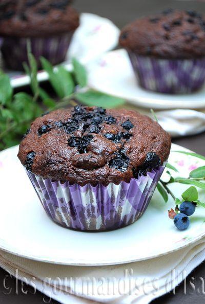 Les gourmandises d'Isa: MUFFINS AU CHOCOLAT ET AUX BLEUETS #LMDConnector