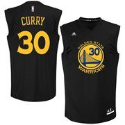 adidas Stephen Curry Golden State Warriors Fashion Replica Jersey - Black