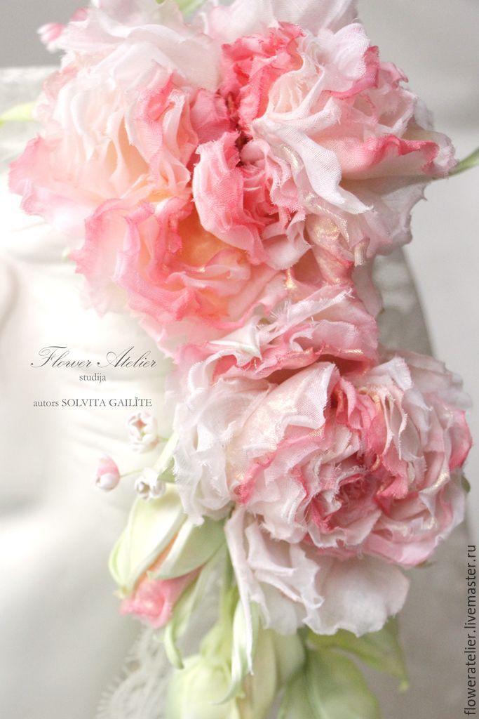 """Купить Ободок для невесты с розами """"Венера"""" - свадьба, сомебана, flower atelier, украшения ручной работы"""