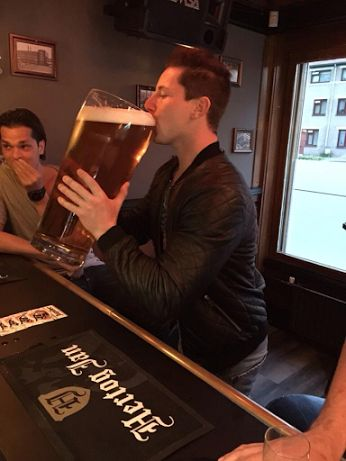 """""""Just going out for a beer with the guys hon!"""" """"Just one! I remember the last time!"""" """"Yup, just one glass. I promise!"""""""
