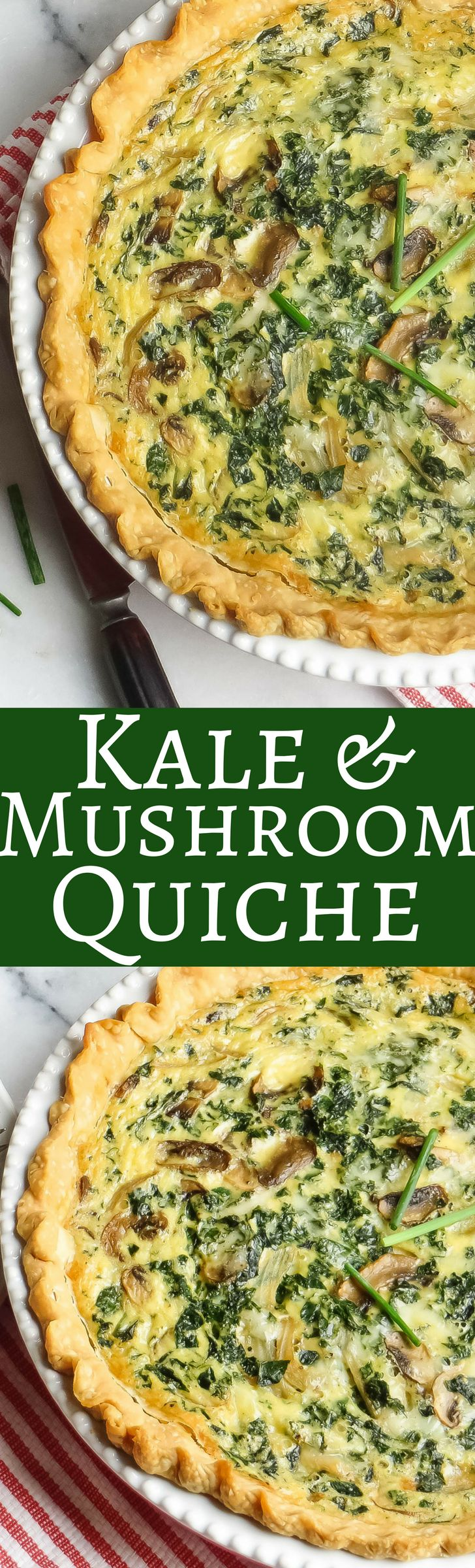 Change the crust to THMify. Kale and Mushroom Quiche