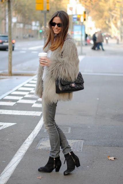 Fuzzy fur coat- follow us http://www.helmetbandits.com like it, love it, pin it, share it!
