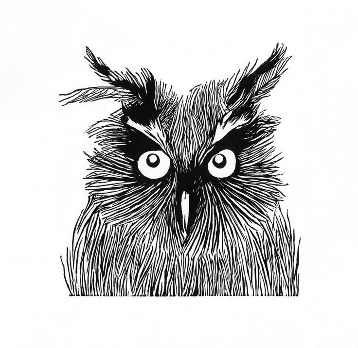 Owl | Linocut