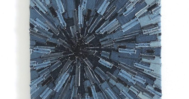 Here is one of my projects that was featured on Craftgawker  a while back: Denim Sunburst Textile Art               The process of making t...