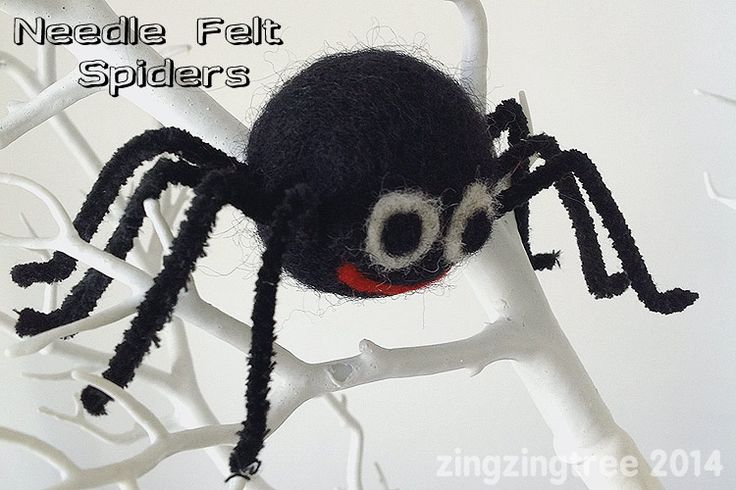 Needle Felt Spider Decoration Perfect For Halloween