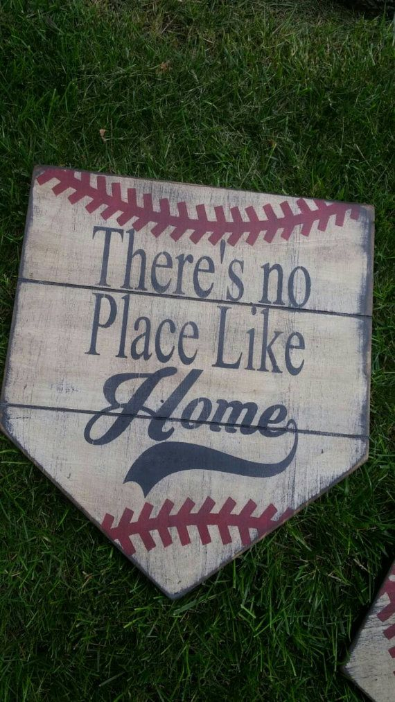 There's No Place Like Home home plate sign by applevalleyprimitive