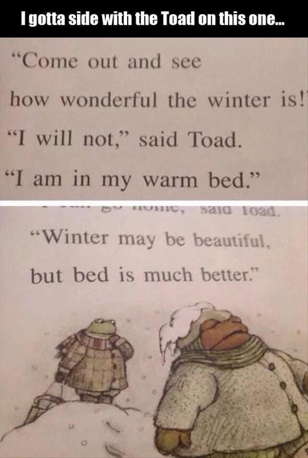 I LOVE Frog and Toad. My sister and I always joke that she is Frog and I am Toad. ... it's so true.