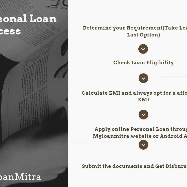 What Is The Personal Loan Process Personal Loans How To Apply Apply Online