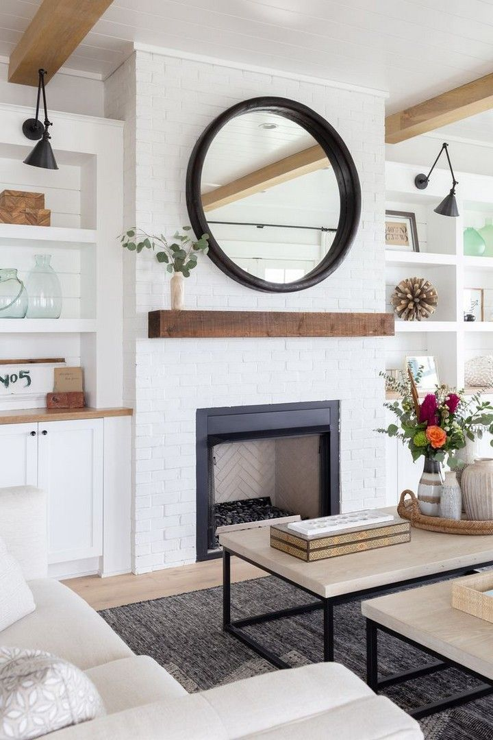 Terrific Screen White Fireplace Design Suggestions In 2020 Farmhouse Style Living Room Modern Farmhouse Living Room Farmhouse Decor Living Room