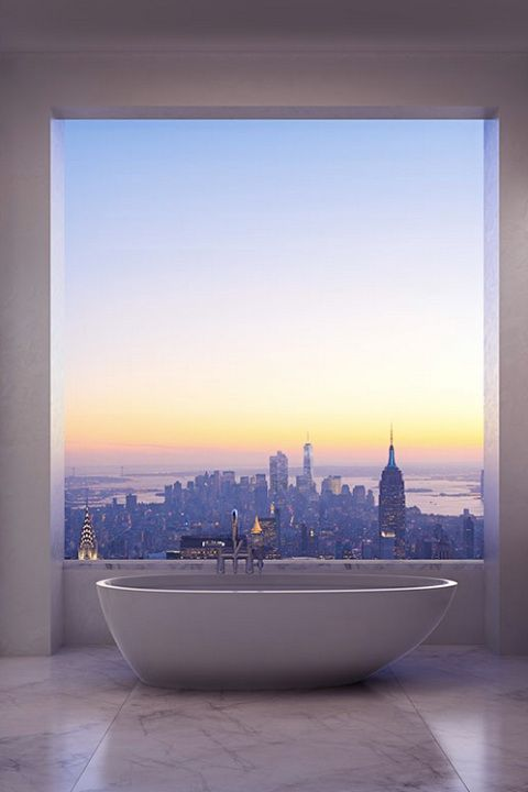 New York apartment view.