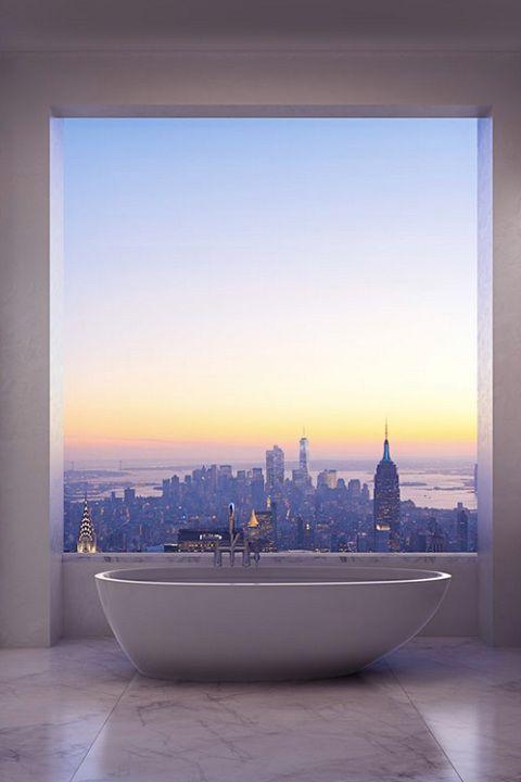 New York apartment view. Posh posh posh!