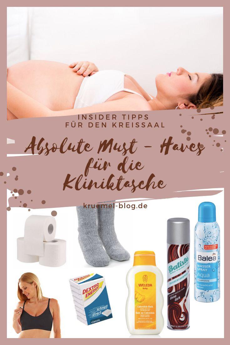 Kliniktasche für die Geburt packen – S B