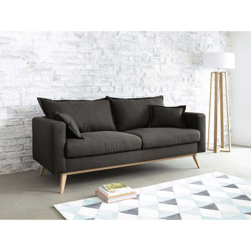 Canap 3 places en tissu duke maisons du monde home for Canape loft maison du monde