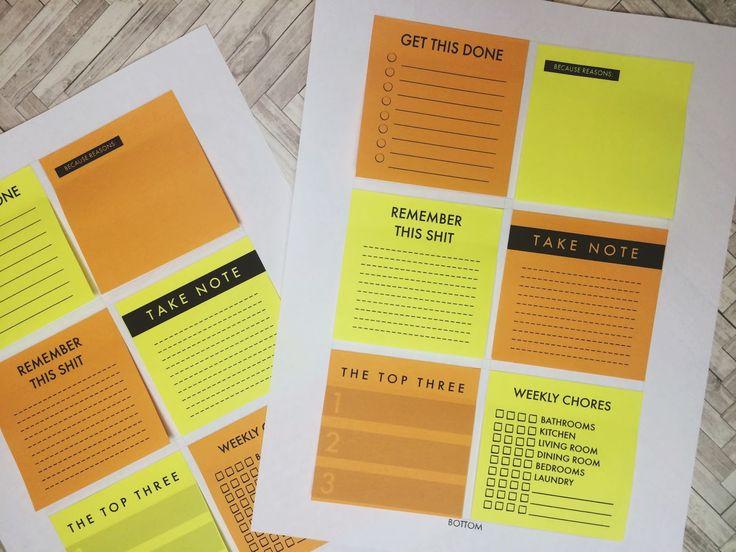16分の5のブログ:それ月曜日// DIY印刷プランナー付箋を作ります