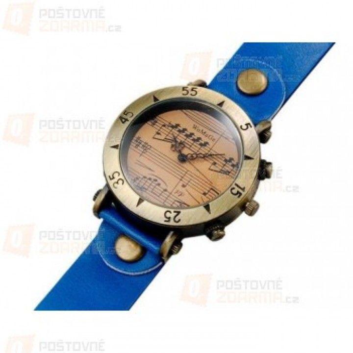 Retro hodinky s notovou osnovou – 4 barvy a poštovné ZDARMA!