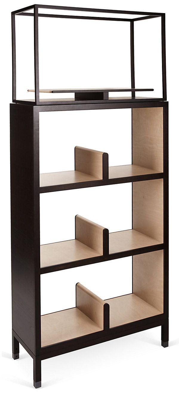Nea Double Bookcase, Wenge | Italian Craftsmanship | One Kings Lane