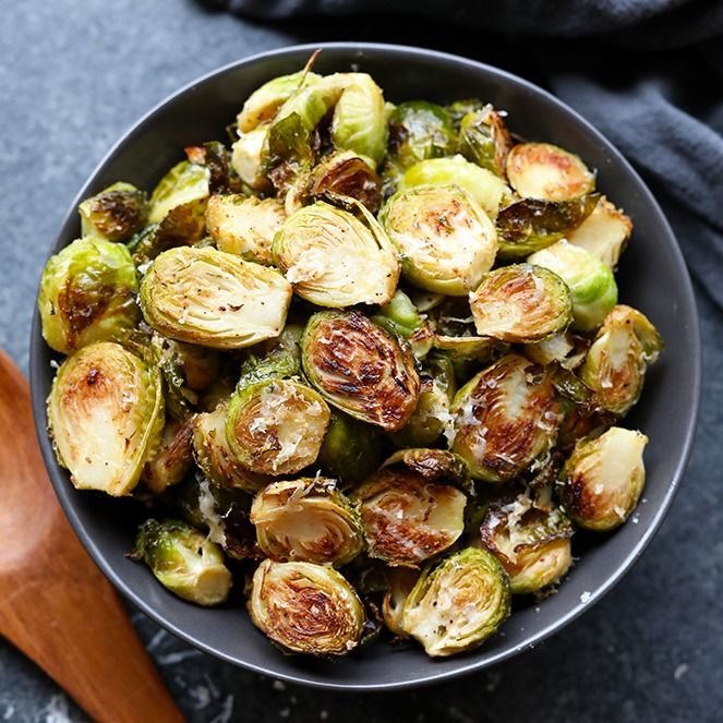 Roasted Brussel Sprouts with Parmesan   – Side dishes