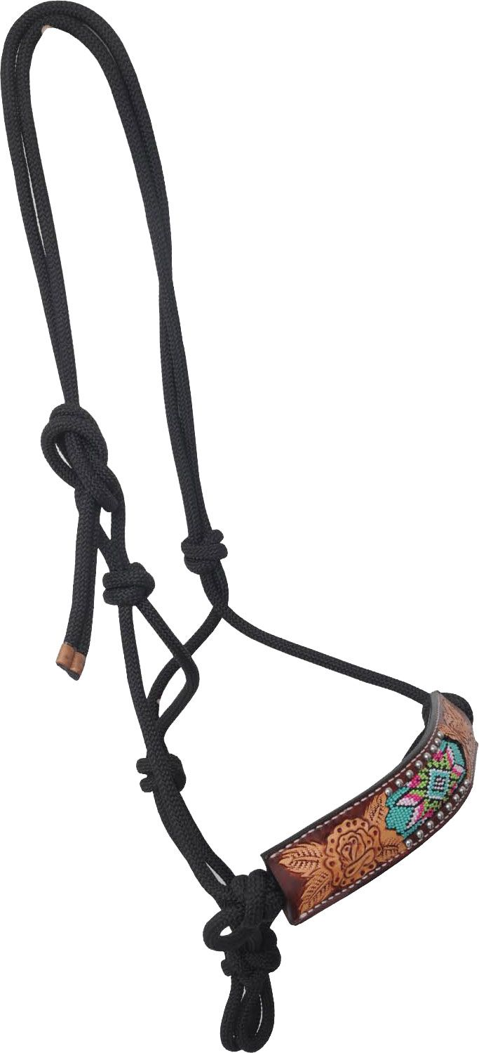 how to put a rope halter on a horse