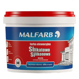 Farba Silikatowo-Silikonowa przeznaczona jest do malowania elewacji budynków. Produkt łączy w sobie unikalne cechy powłok silikonowych (hydrofobowość i odporność na zabrudzenia) i silikatowych (wytrzymałość i przyczepność do podłoża).  http://malfarb.pl/produkty-oferta/p/1423-farba-silikatowo-silikonowa-baza
