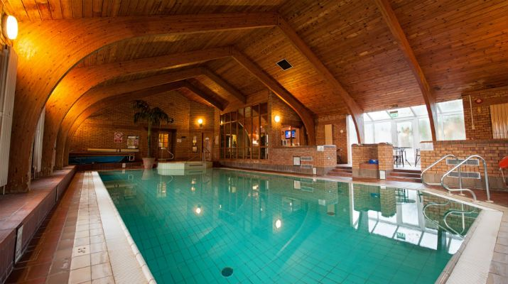 The gorgeous swimming pool of the 4* Dunadry Hotel & Country Club, Co. Antrim