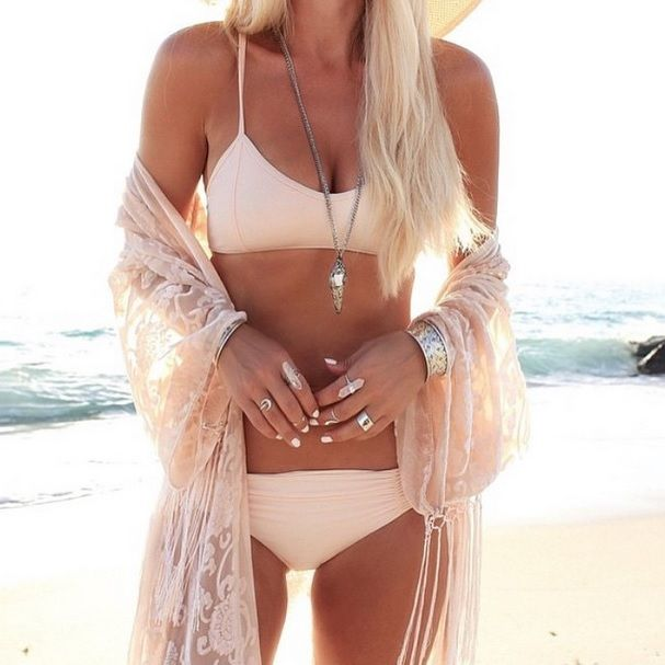 Golden beach days with @gypsylovinlight in our NANETTE + MONIQUE bikini