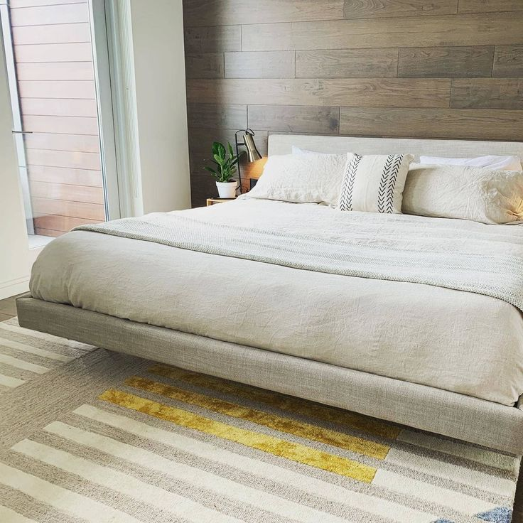 Tessu Glaze Gray King Bed King bed frame, Modern king