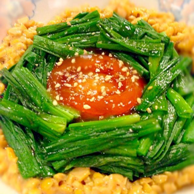 にんにく醤油に漬けた卵黄がトロ〜リ♡ - 43件のもぐもぐ - ニラおひたし by nachu721
