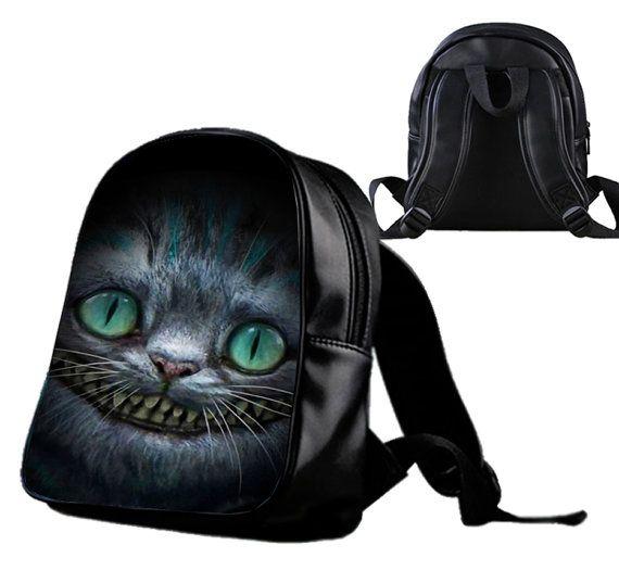 Alice in Wonderland Cheshire Cat  by Wonderfunny on Etsy #Minecraft #backpack #schoolbags #gift #birthday
