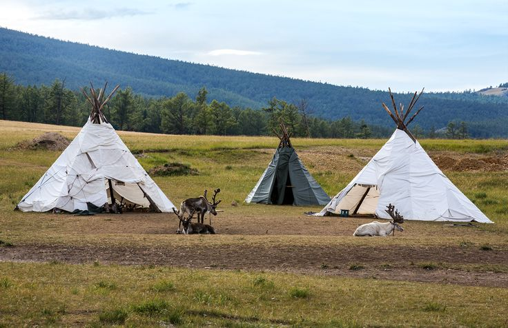 Darkhad Tribe in Darkhad Valley of Khuvsgul province. Northern Mongolia