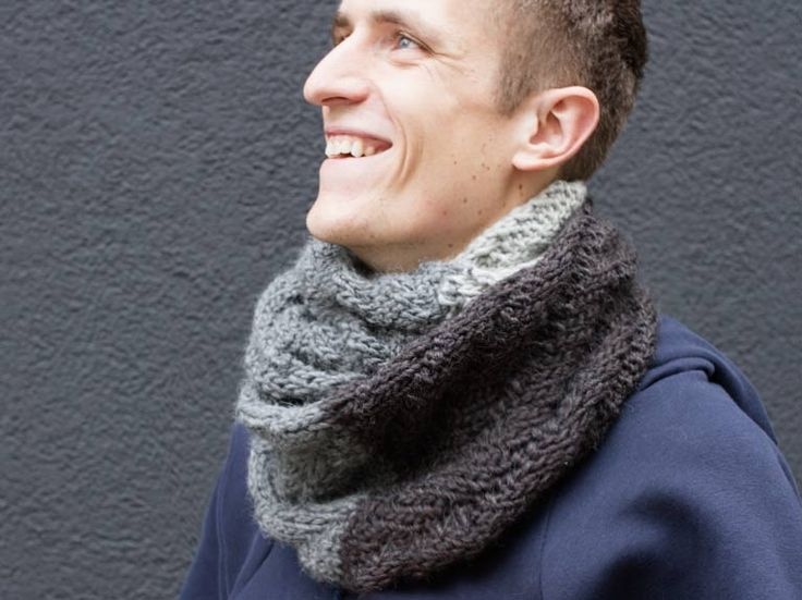 Tutoriel DIY: Tricoter une écharpe tube pour son copain via DaWanda.com