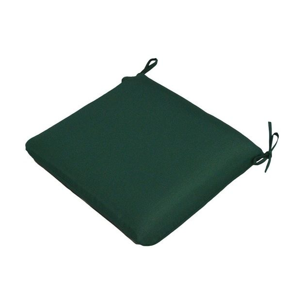 """Casual Cushion Corp 308-1455 Large Seat Pad, Forest Green, 19""""X18"""" (Polyester), Outdoor Cushion"""