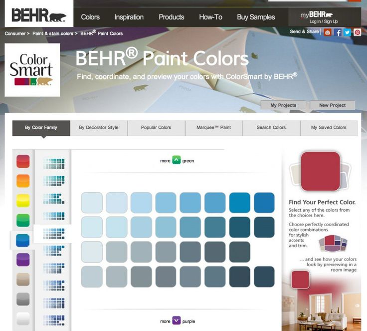 Behr Paint Color Picker {Paint It Monday} The Creativity Exchange