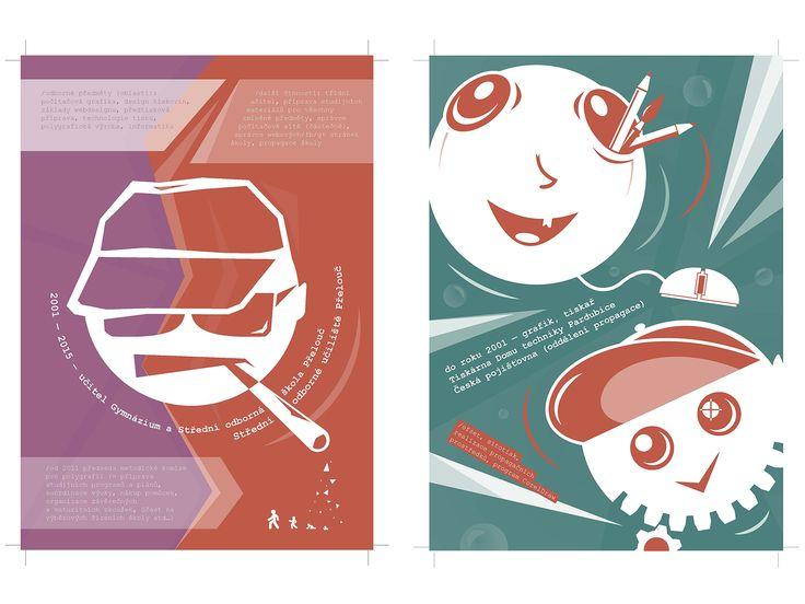 Teacher, graphic designer, typographer. Graphics for the curriculum vitae of Milan Drobek