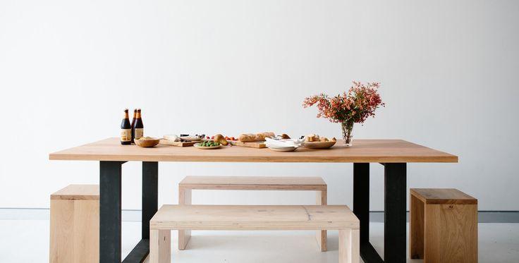 Box Leg Table by mrandmrswhite.net