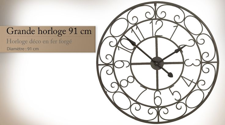 17 meilleures id es propos de grande horloge sur for Grande horloge murale fer forge