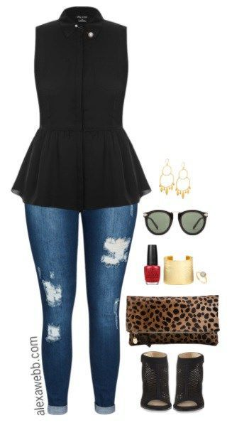Plus Size Peplum Top Outfits