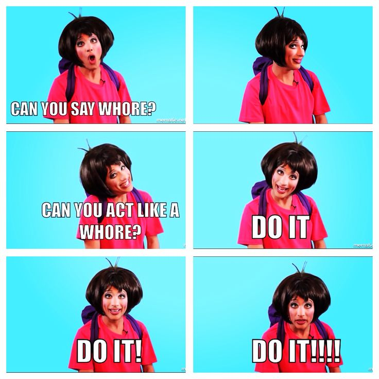 BDR as Dora the Explorer.  Do yourself a favor and watch the Youtube clip.  'Do it!'