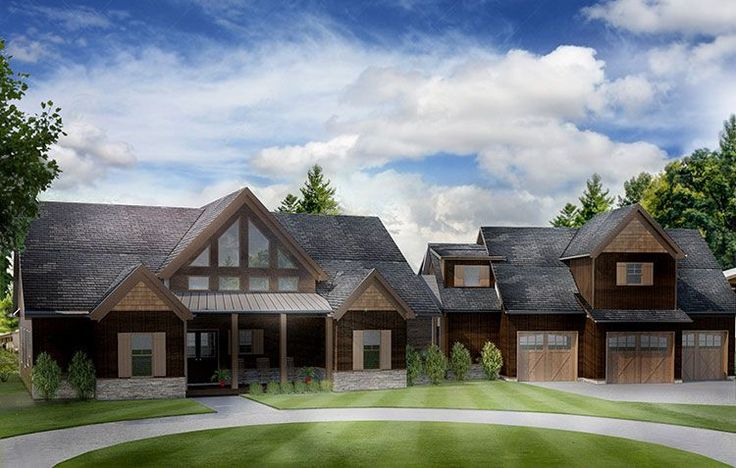 17 best images about cabin on pinterest house plans - Mountain home plans with walkout basement ...