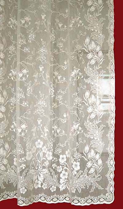 ebay curtains antique victorian ivory country lace floral french bhp tambour